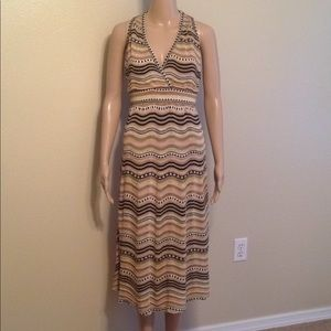 M Missoni patterned rib knit midi dress, size S